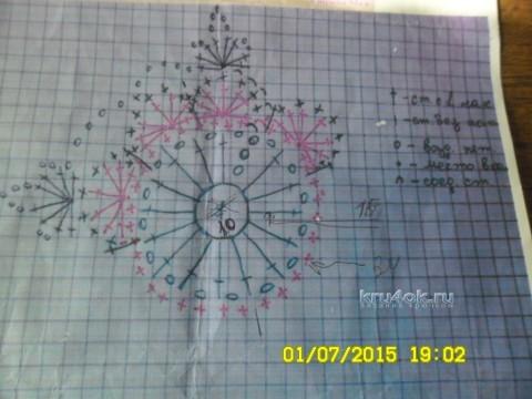 Летняя кофточка крючком - работа Ольги вязание и схемы вязания