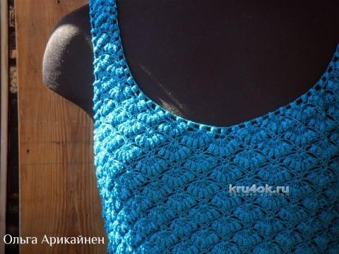 Маечка крючком - работа Ольги Арикайнен вязание и схемы вязания