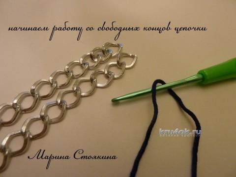 МК по изготовлению ручки для сумочки от Марины Стоякиной вязание и схемы вязания