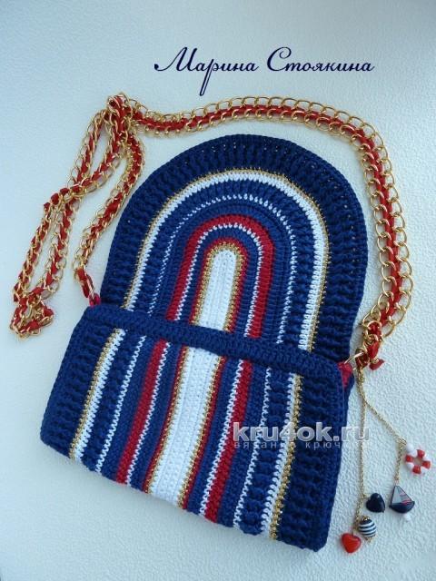 Морская сумочка крючком - работа Марины Стоякиной вязание и схемы вязания