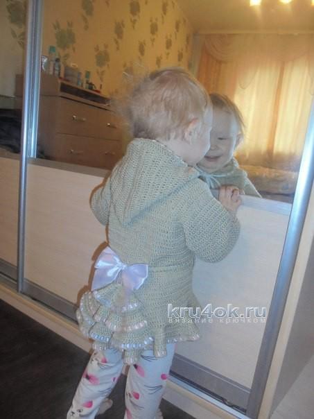 Пальто для девочки - работа Натальи Трусовой вязание и схемы вязания