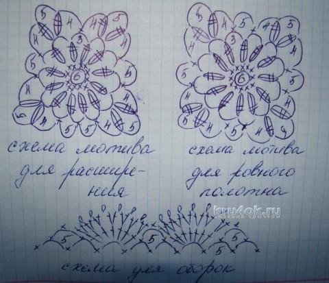 Платье крючком - работа Евгении Руденко вязание и схемы вязания