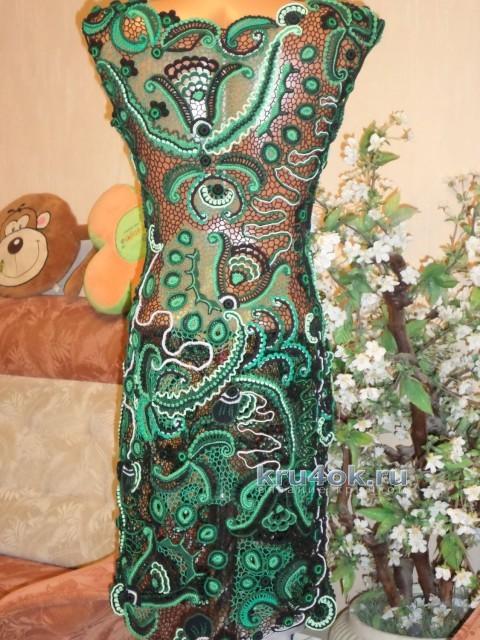 Платье Малахитовая шкатулка - работа Светланы вязание и схемы вязания