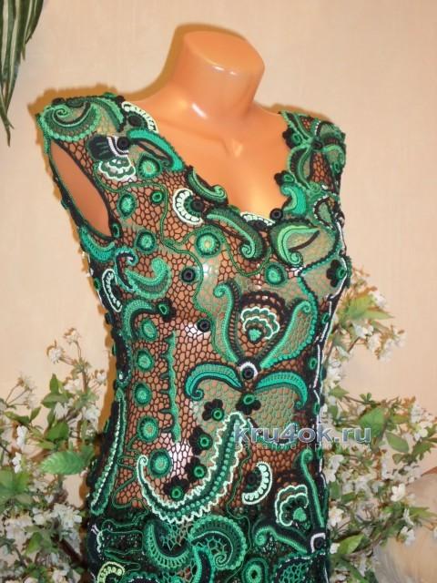 Платье Малахитовая шкатулка. Работа Светланы