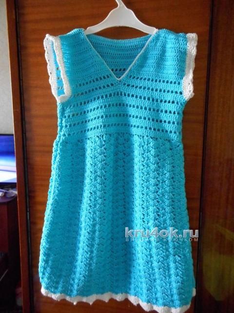 Платья для девочки - работы Марии вязание и схемы вязания