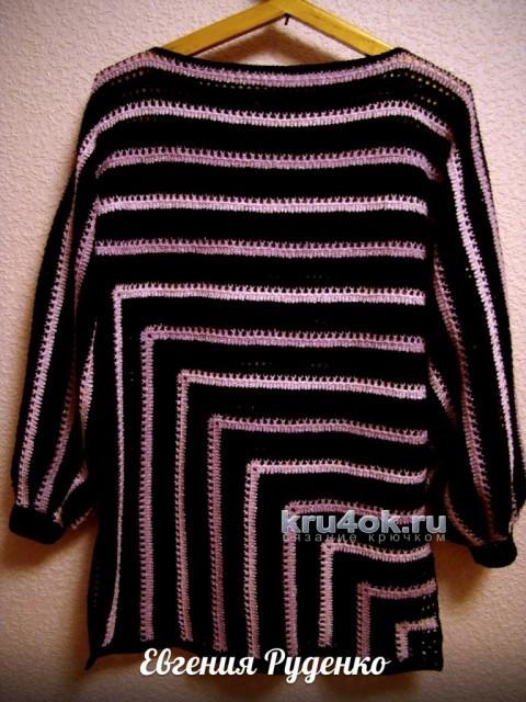 Пуловер и туника, связанные по одной схеме вязание и схемы вязания