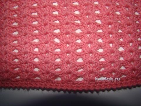 Пуловер крючком - работа Евгении Руденко вязание и схемы вязания