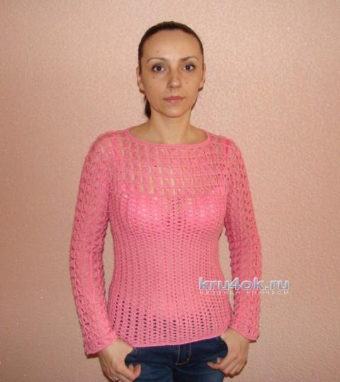 Пуловер крючком - работа Евгении Руденко
