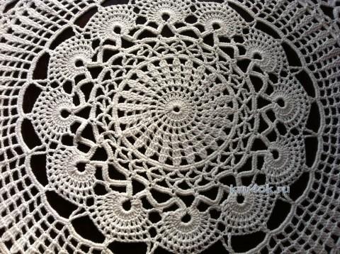 Салфетка крючком - работа Надежды Борисовой вязание и схемы вязания