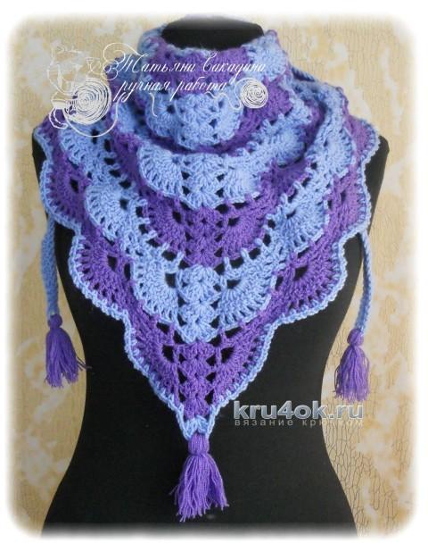 Шаль и косынка, связанные по одной схеме вязание и схемы вязания