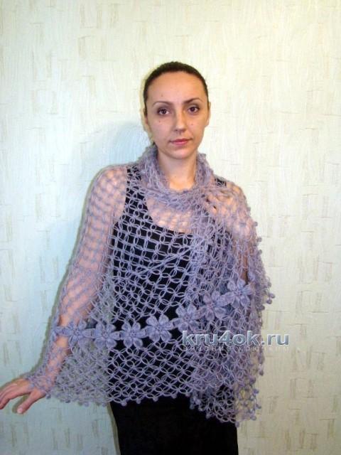 Шаль крючком - работа Евгении Руденко вязание и схемы вязания