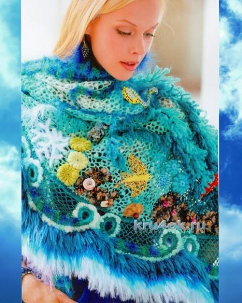 Шаль Подводный мир - работа Марии Казановой вязание и схемы вязания