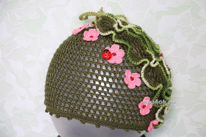 Вязание рюши крючком для шапки