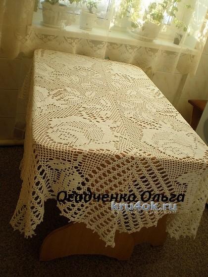 Скатреть крючком - работа Ольги вязание и схемы вязания