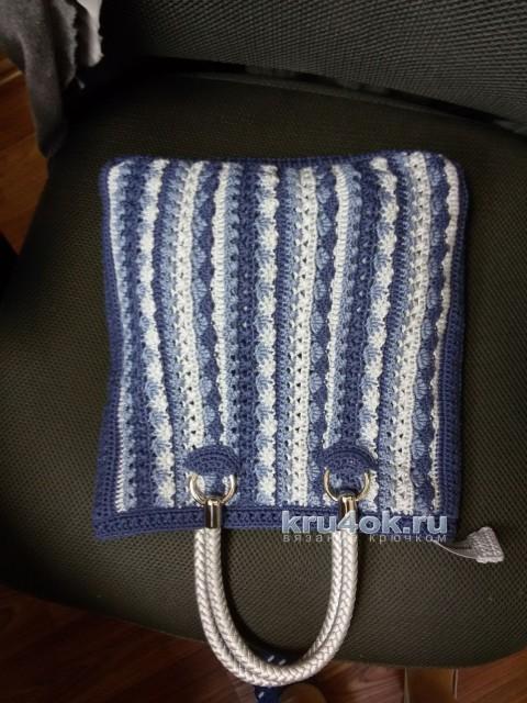 Сумочка крючком - работа Анны Николаевой вязание и схемы вязания