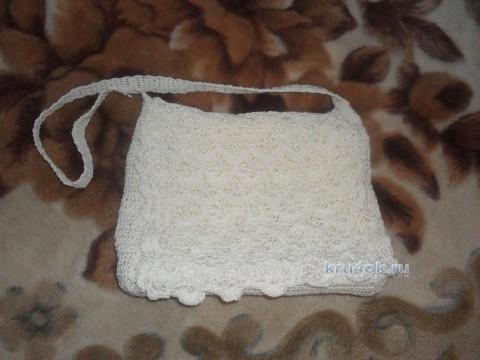 Сумочка крючком - работа Юлии вязание и схемы вязания
