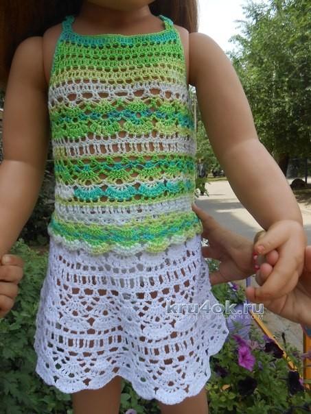Топ и юбка для девочки - работа Татьяны Султановой вязание и схемы вязания