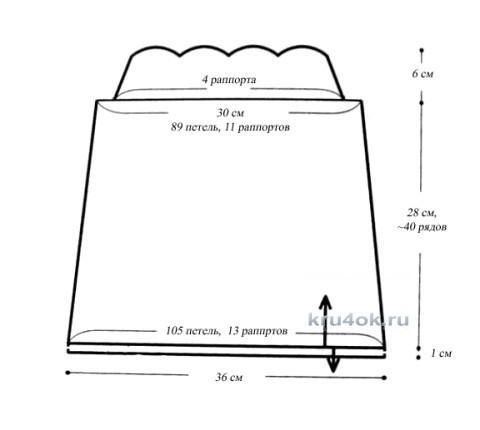 Схемы вязания топа
