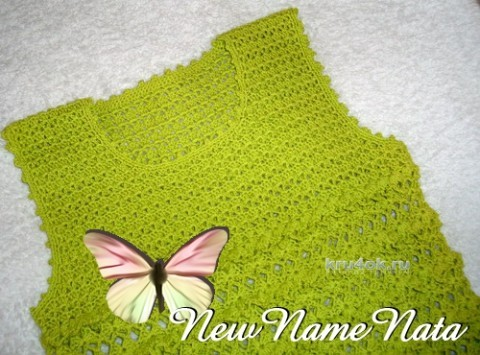 Туника для девочки - работа NewNameNata вязание и схемы вязания