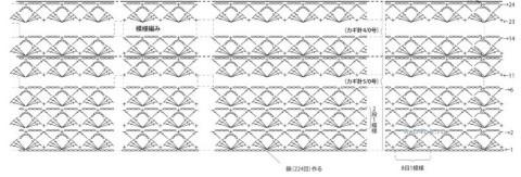 Туника ажурная, схемы вязания