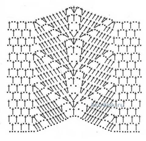 Туника крючком - работа Ирины вязание и схемы вязания