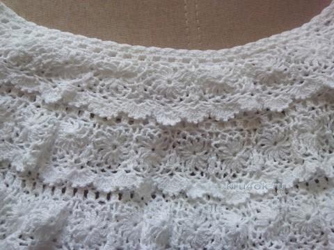Вязаная блуза Цветочная соната - работа Нины вязание и схемы вязания