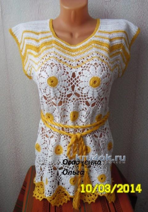 Вязаная туника  - работа Ольги вязание и схемы вязания