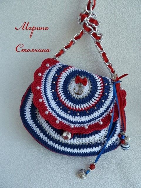 Вязаная сумочка для девочки - работа Марины Стоякиной вязание и схемы вязания