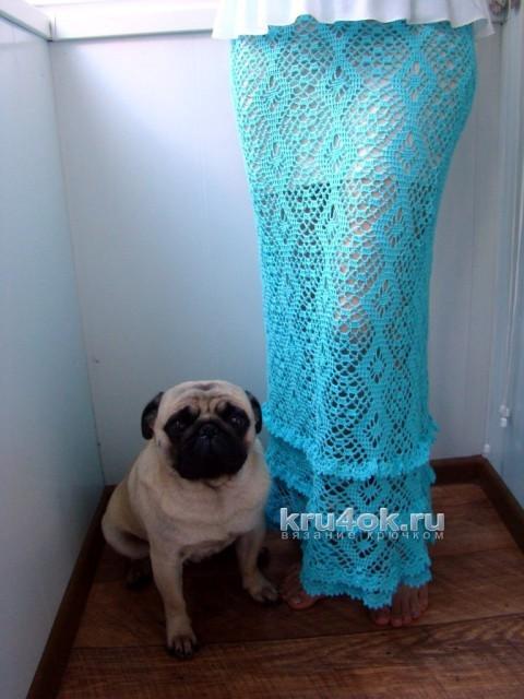 Вязаная длинная юбка - работа Евгении Руденко