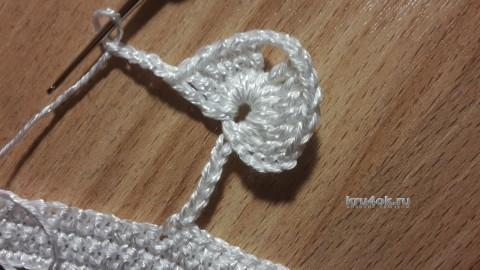 Вязаное колье крючком - работа Инны Пальчун вязание и схемы вязания