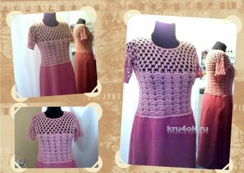 Вязаное крючком платье - работа Аллы вязание и схемы вязания