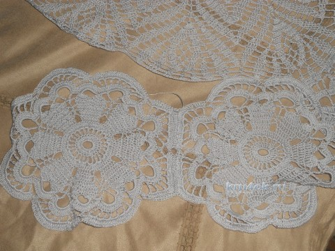 Вязаное платье - работа Аллы вязание и схемы вязания