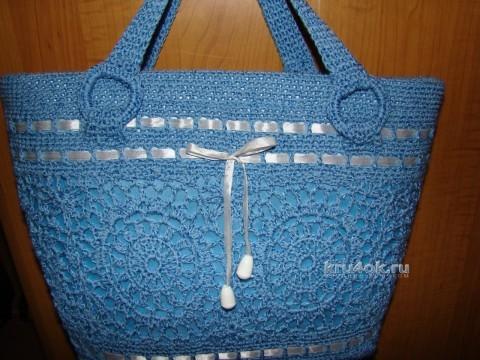 Вязаные крючком сумочки - работы Евгении Руденко вязание и схемы вязания