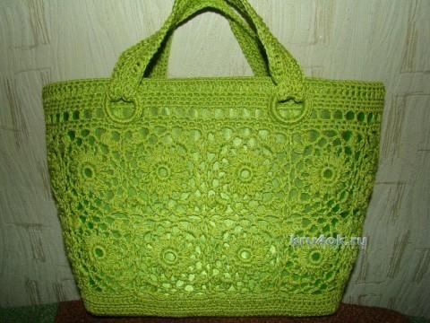 Вязаные крючком сумочки для женщин. Работы Евгении Руденко