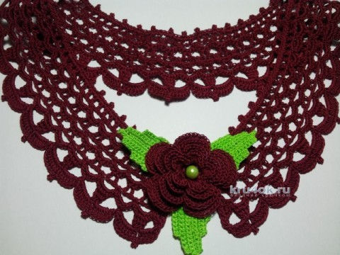 Вязаные крючком воротнички вязание и схемы вязания