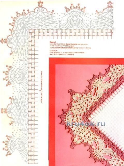 Вязаный плед - работа Марины Стоякиной вязание и схемы вязания