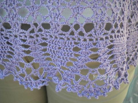 Женская кофточка крючком - работа Ирины вязание и схемы вязания