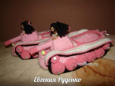 Женский вариант танкотапочек - работа Евгении Руденко вязание и схемы вязания