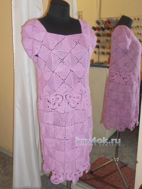 Женское платье крючком - работа Аллы вязание и схемы вязания