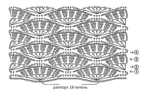 Схема вязания маечки: