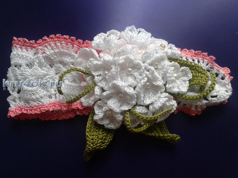 Вязание крючком повязок на голову 20