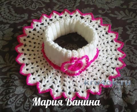 Вязание манишки для девочки, описание от Марии Ваниной