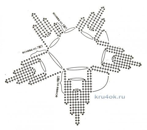 Авторская туника крючком. Работа Ефимии Андреевских вязание и схемы вязания