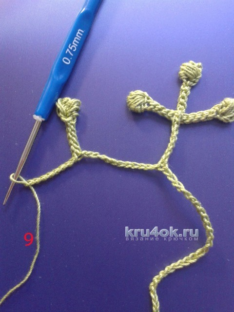 Авторская туника с длинным рукавом в технике ирландского кружева вязание и схемы вязания