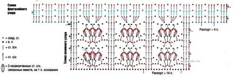 Ажурная туника - работа Ирины вязание и схемы вязания