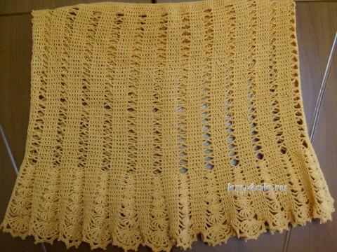 Ажурная юбочка крючком. Работа Ларисы вязание и схемы вязания