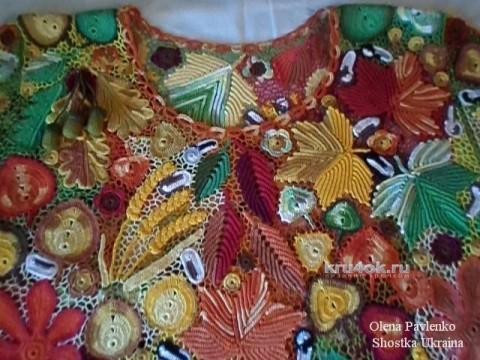 Блуза Акварель осени. Работа Елены Павленко вязание и схемы вязания