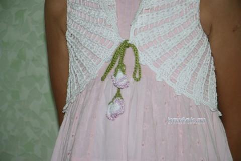 Болеро крючком для девочки. Мастер - класс! вязание и схемы вязания