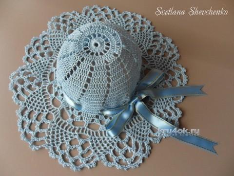 Детская шляпка крючком. Работа Светланы Шевченко вязание и схемы вязания