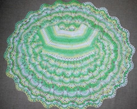 Детское платье - работа Натальи вязание и схемы вязания